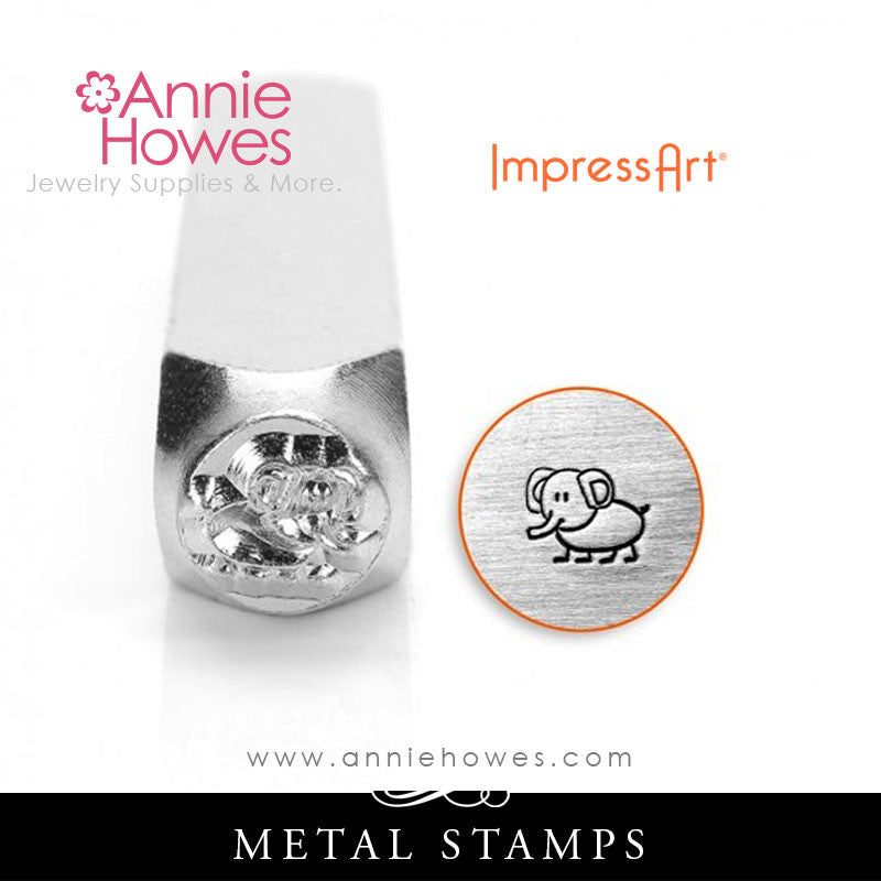 Impressart Metal Stamps - Ellie Elephant Design Stamp