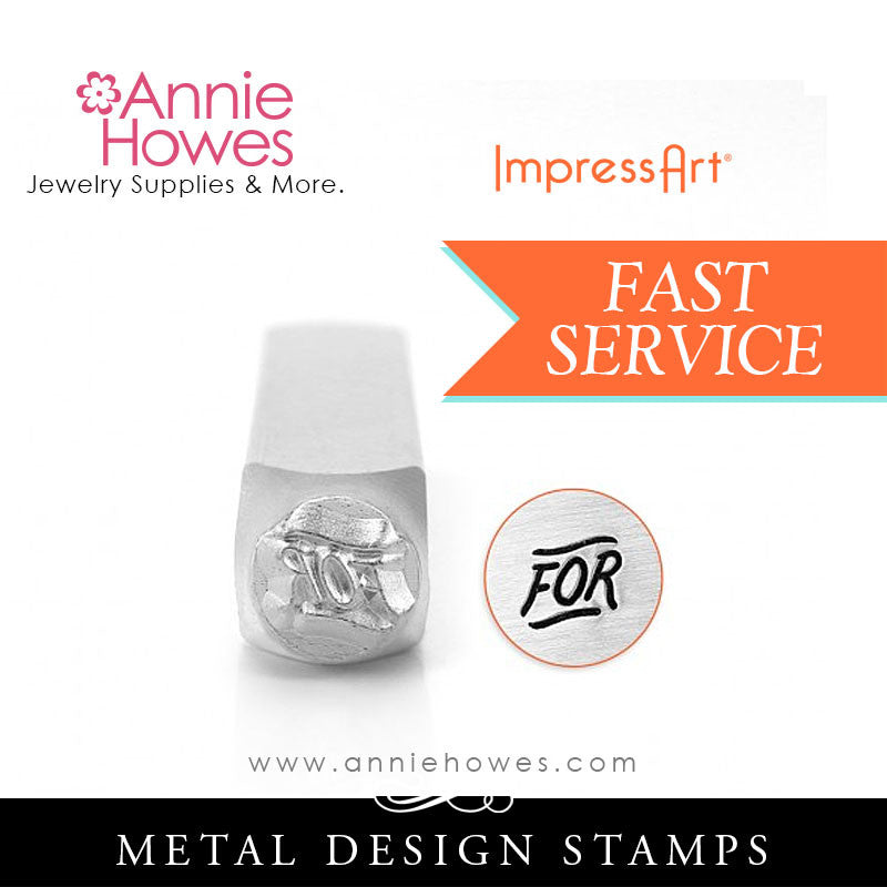 "Impressart Metal Stamps - ""FOR"" Word Design Stamp"