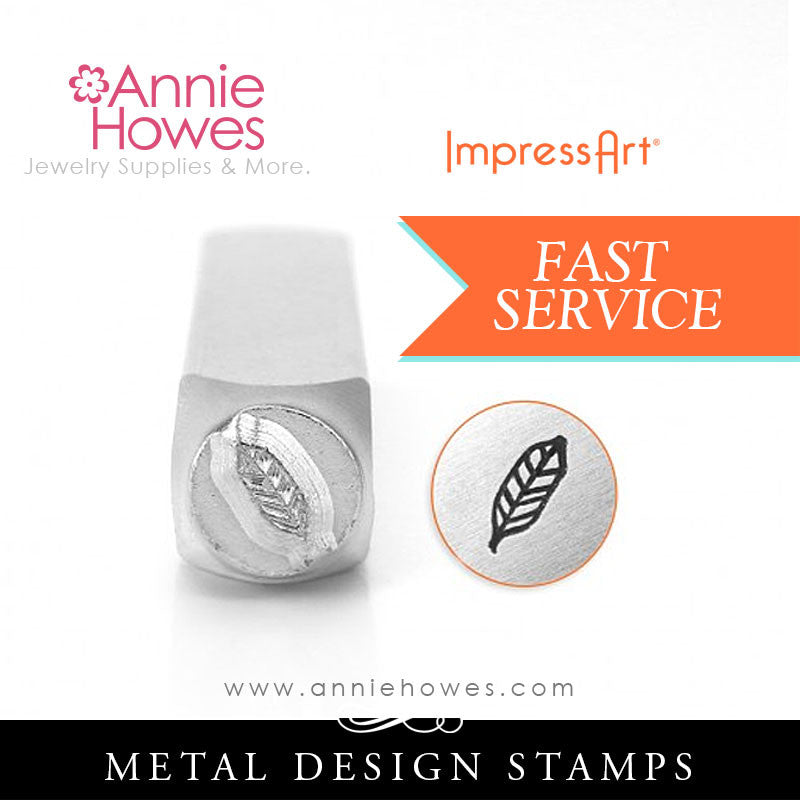 Impressart Metal Stamps - Feather 2 Jewelry Design Stamp