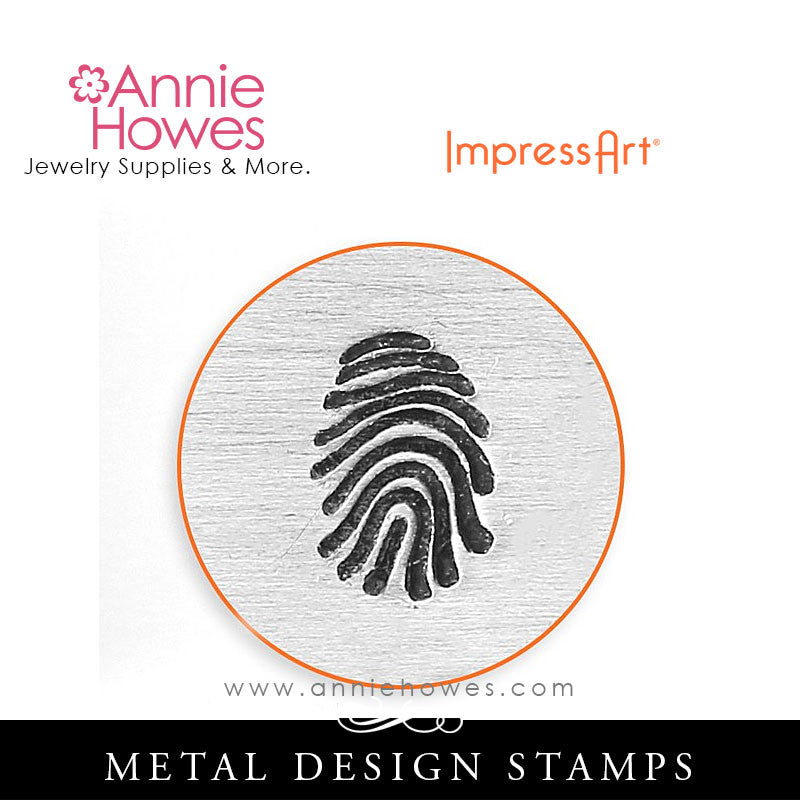 Impressart Metal Stamps - Fingerprint Design Stamp