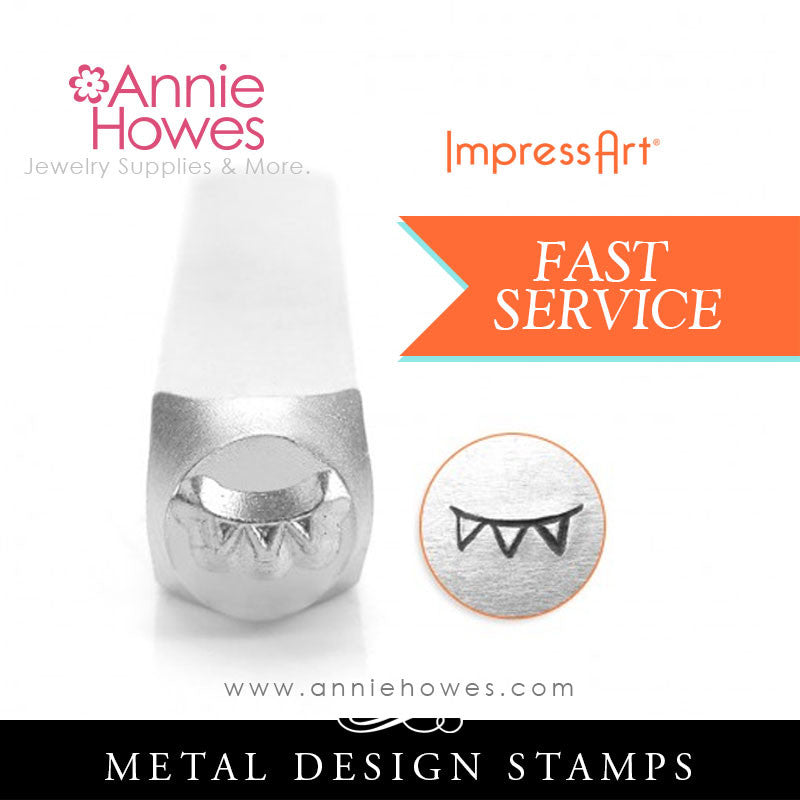 Impressart Metal Stamps - Curved Flag Border Jewelry Design Stamp