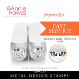 "Impressart Metal Stamps - Flourish Ends Design Stamps ""L"""