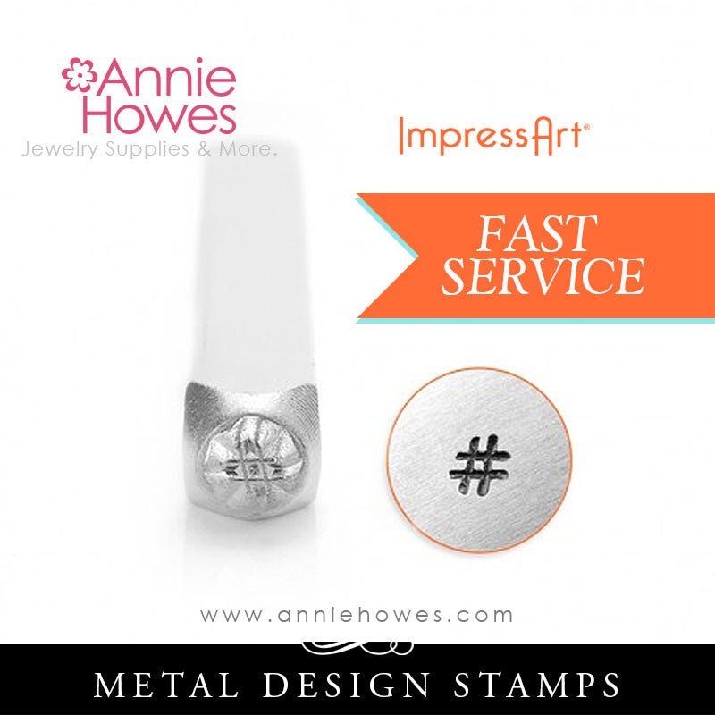 Impressart Metal Stamps - Hashtag Symbol # Jewelry Design Stamp