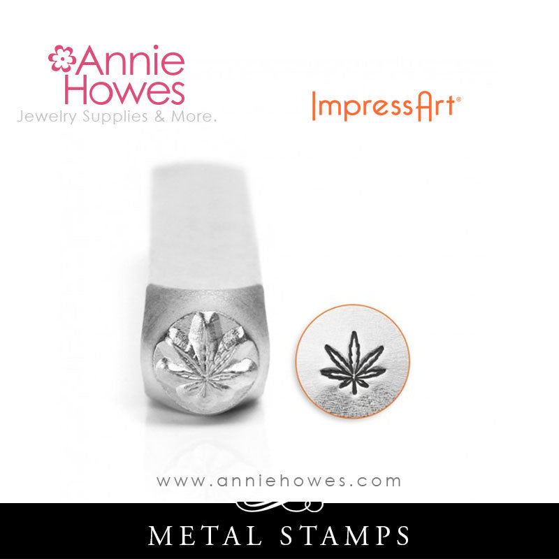 Impressart Metal Stamps - Hemp Leaf Stamp
