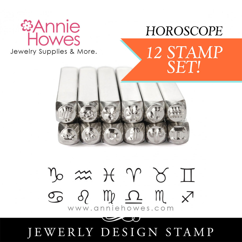 Impressart Metal Stamps - Horoscope 12 Piece Set Design Stamp