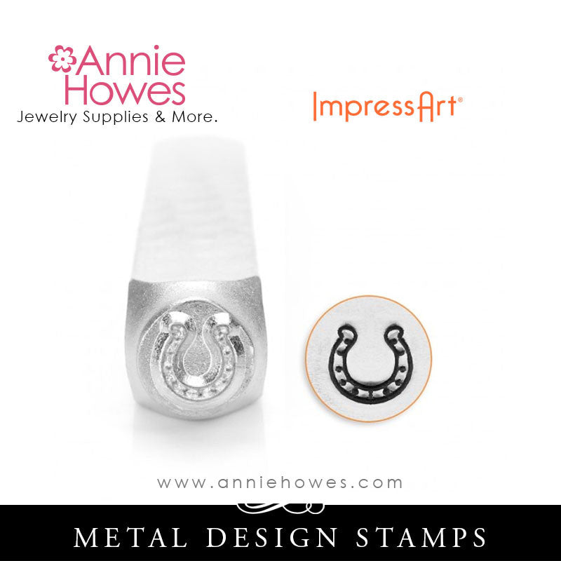 Impressart Metal Stamps - Lucky Horseshoe Design Stamp
