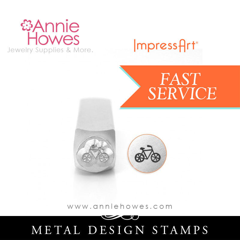 Impressart Metal Stamps - Bicycle Design Stamp