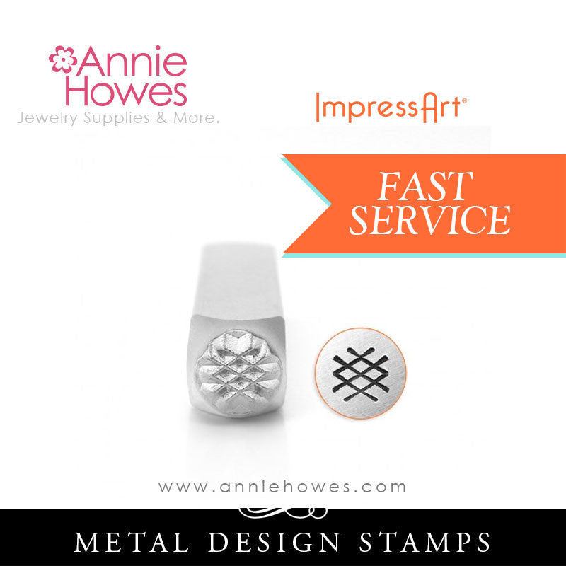 Impressart Metal Stamps - Crosshatch Texture Design Stamp