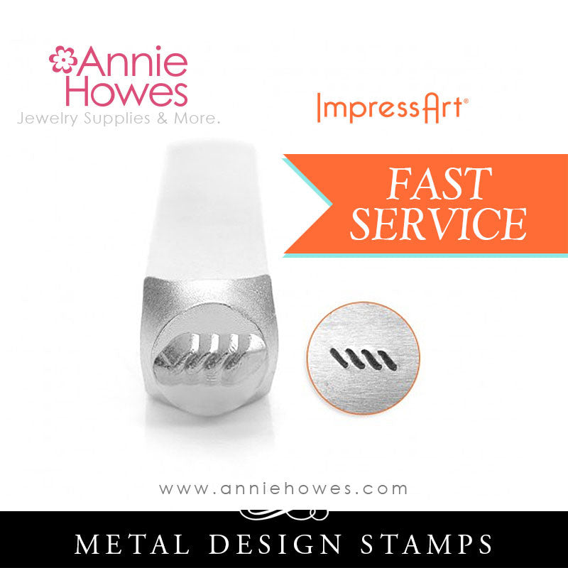 Impressart Metal Stamps - Diagonal Line Border Design Stamp