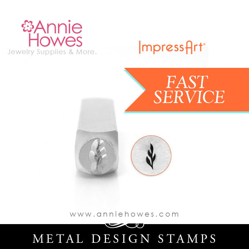 Impressart Metal Stamps - Skinny Leaf Design Stamp