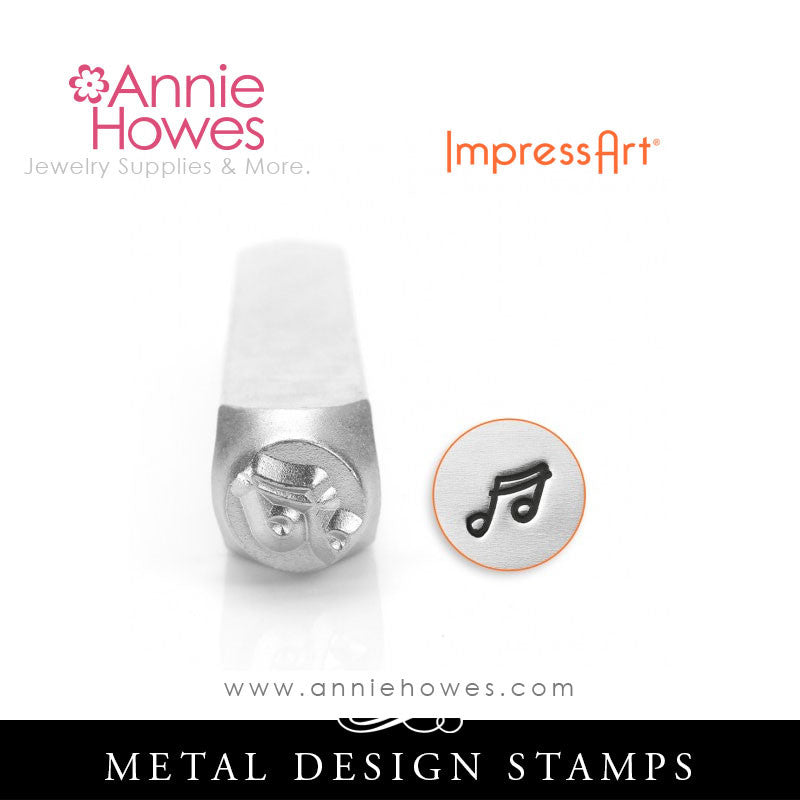 Impressart Metal Stamps - Music Note Stamp