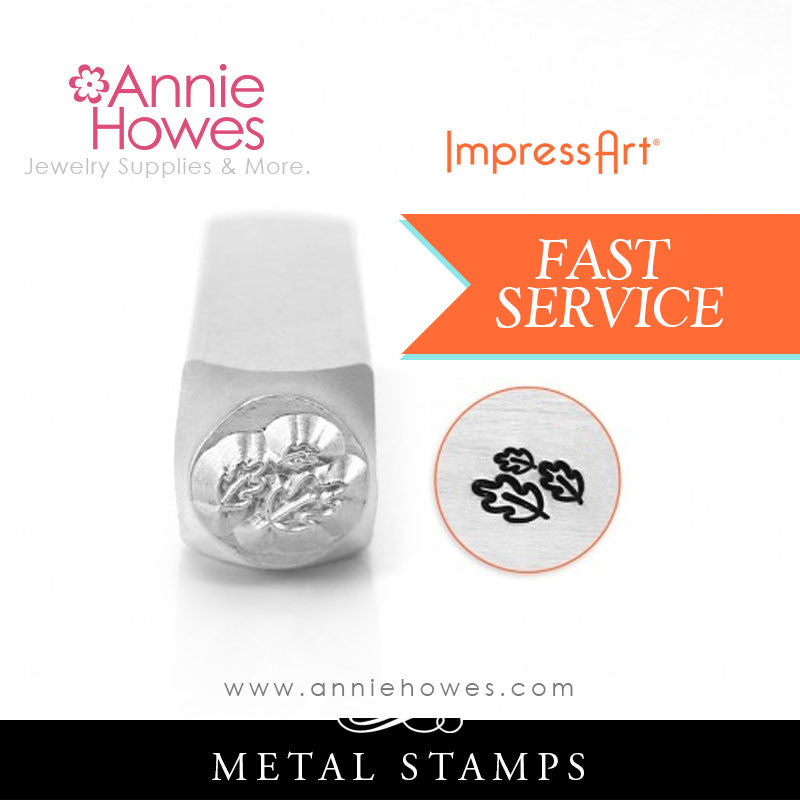 Impressart Metal Stamps - Leaves Texture Jewelry Design Stamp