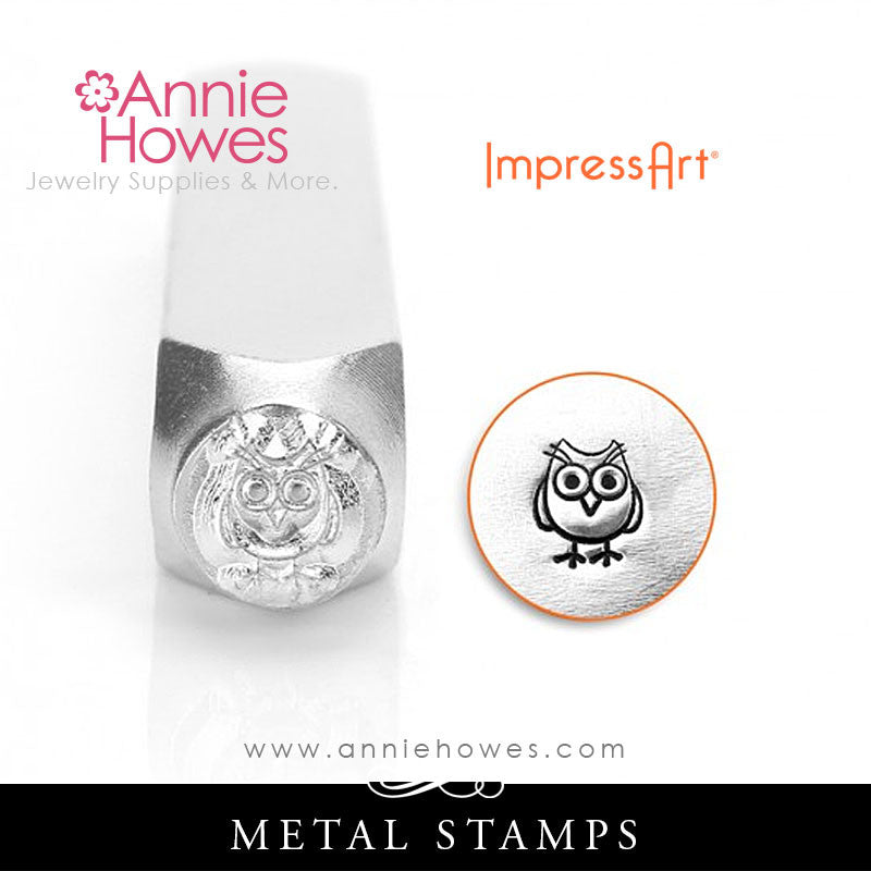 Impressart Metal Stamps - Owl Design Stamp