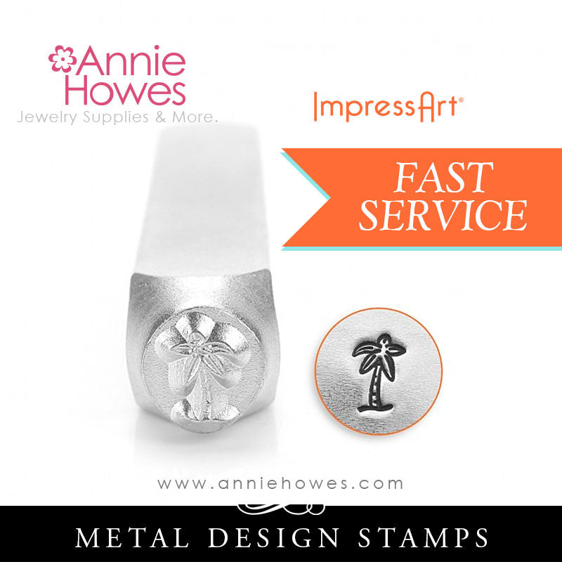 Impressart Metal Stamps - Palm Tree Design Stamp