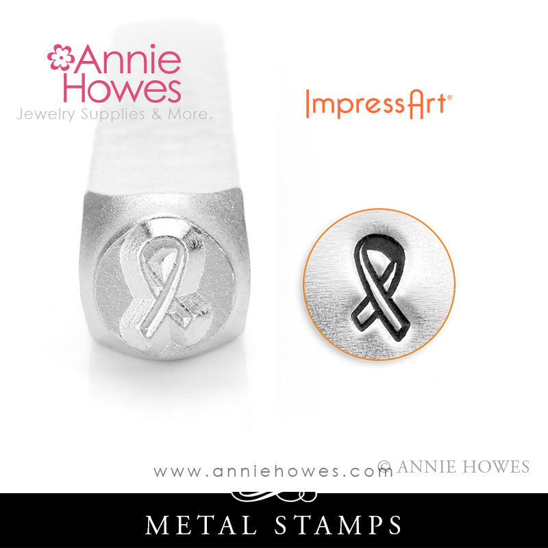 Impressart Metal Stamps - Awareness Ribbon Design Stamp