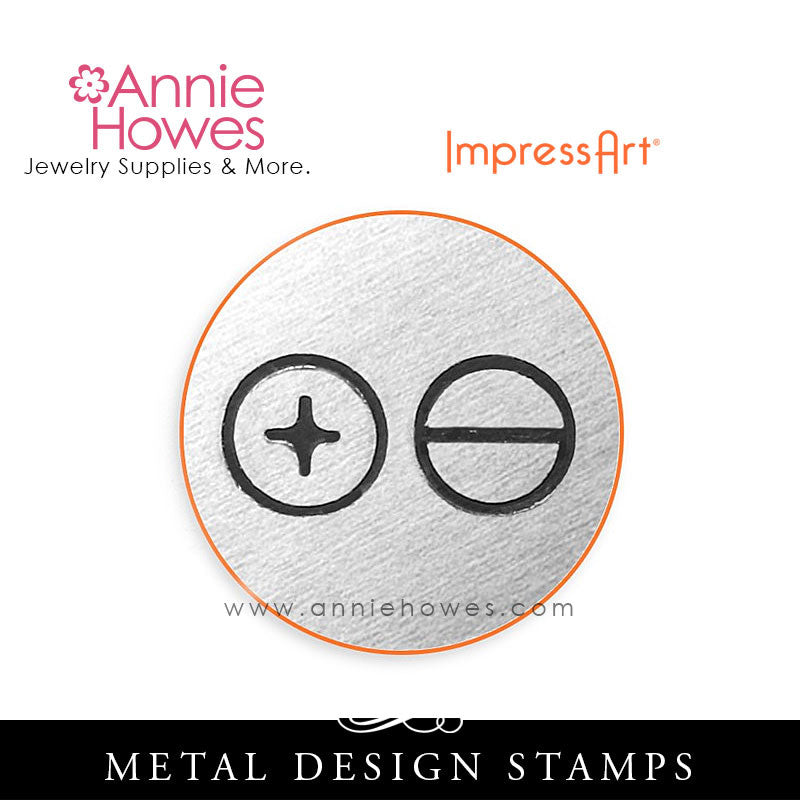 Impressart Metal Stamps - Screw Heads Design Stamp Set
