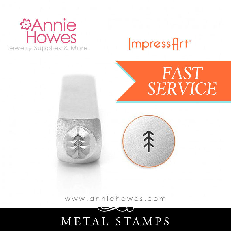 Impressart Metal Stamps - Simple Pine Tree Design Stamp