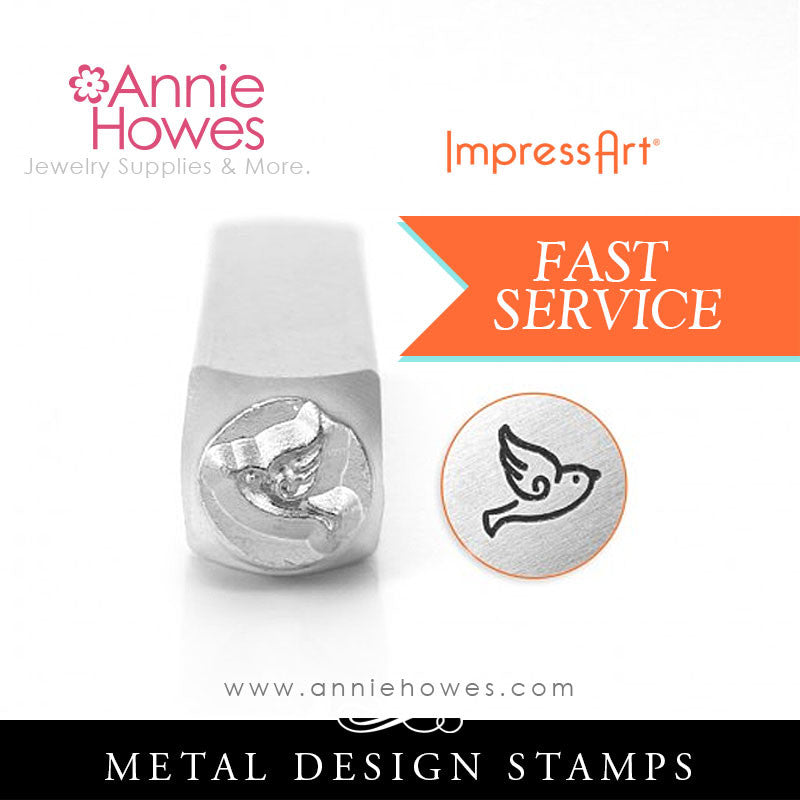 Impressart Metal Stamps - Sparrow Bird Jewelry Design Stamp