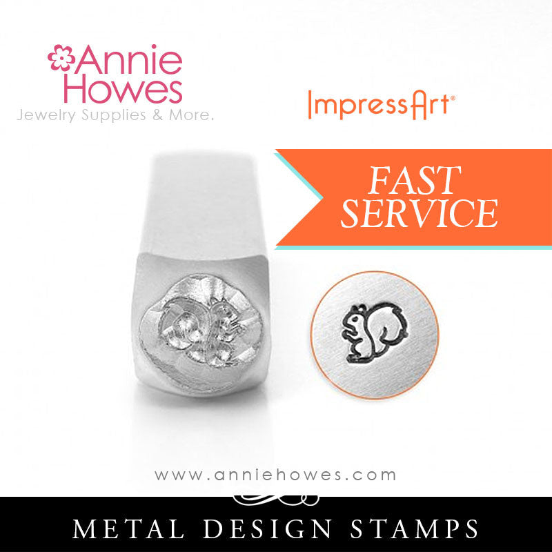 Impressart Metal Stamps - Squirrel Jewelry Design Stamp