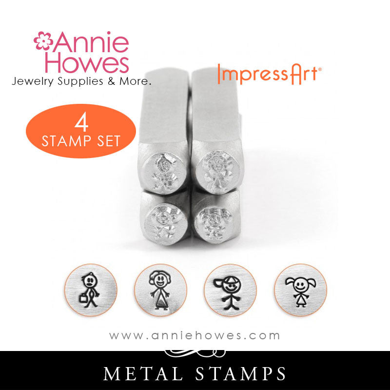 Impressart Metal Stamps - Stick Figure Family Set
