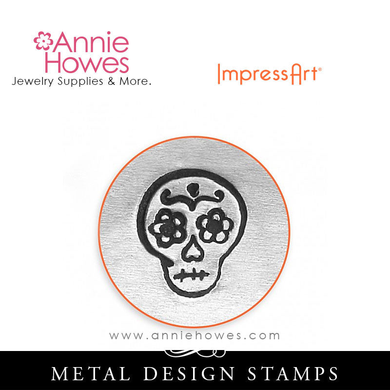 Impressart Metal Stamps - Sugar Skull Design Stamp