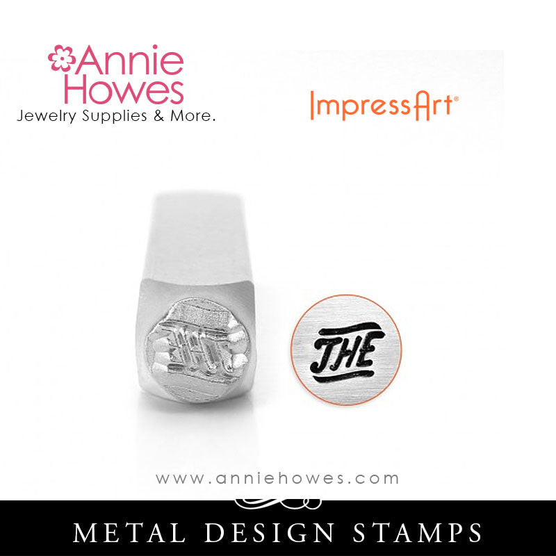 "Impressart Metal Stamps - ""THE"" Word Design Stamp"