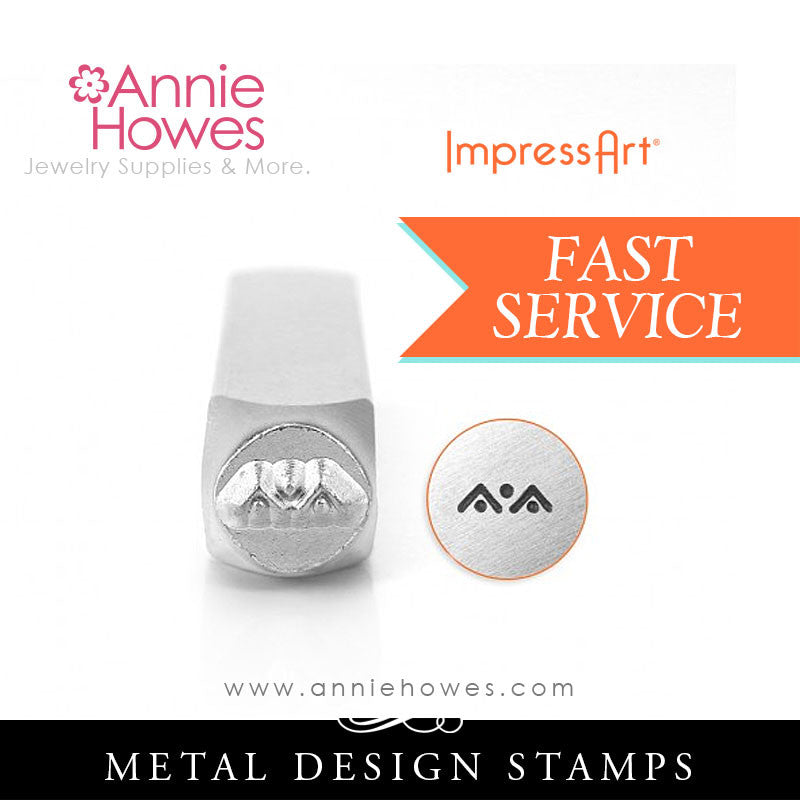 Impressart Metal Stamps - Triangle and Dot Border Design Stamp