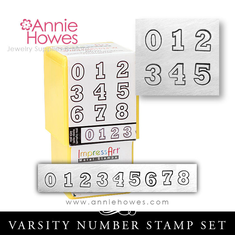 Impressart Metal Stamps - Varsity Numbers Set