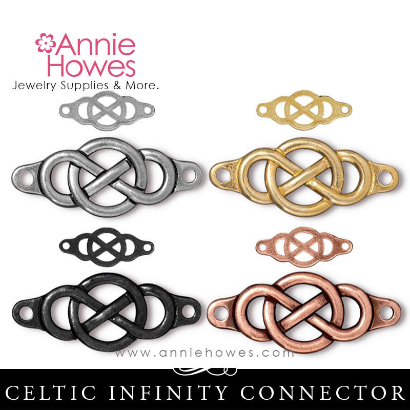 Infinity Link Celtic Bracelet Connector. TierraCast.
