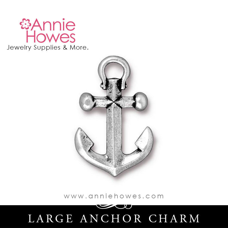 Large Anchor Charm. TierraCast.