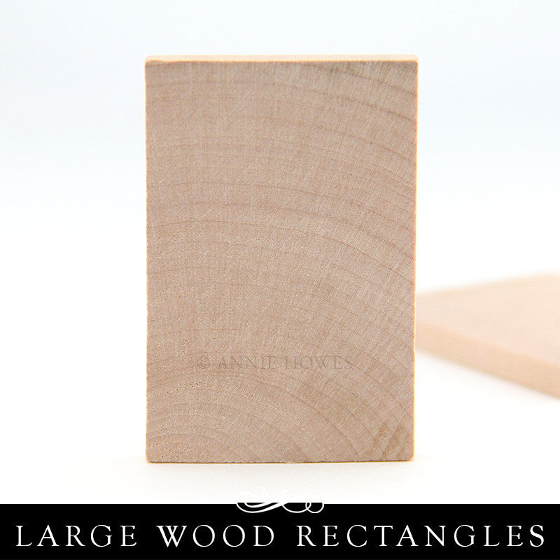 Wood Rectangle Cutout (flat) - 2-1/4 Inch x 3/16 Inch