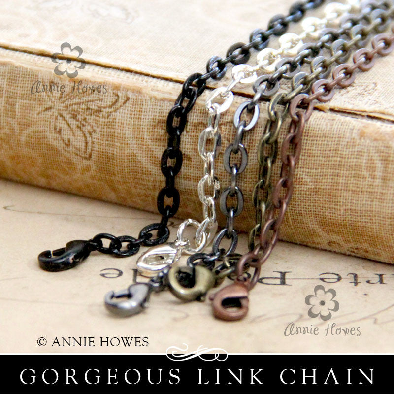 Link Chains with Lobster Clasp 24""