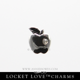 Teacher Charm for Floating Locket Love - Apple Charm