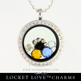 Paw Print Charm for Floating Locket Love