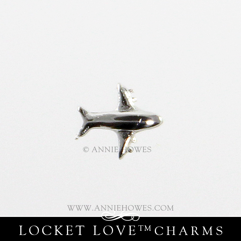 Travel Charm for Floating Locket Love Airplane Charm