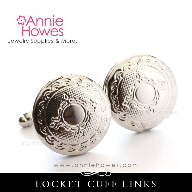 Locket Cuff Links - Silver