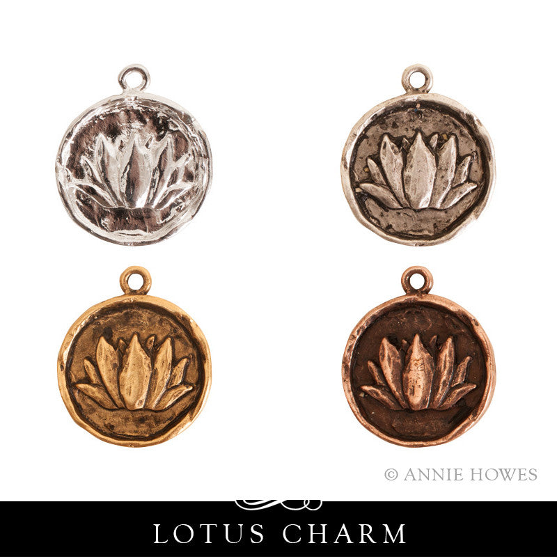 Lotus Flower Charm. Nunn Design.