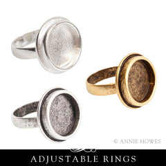 Adjustable Ring, Traditional Large Circle 20mm. Nunn Design.