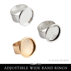 Adjustable Large Circle Ring 18mm - Nunn Design