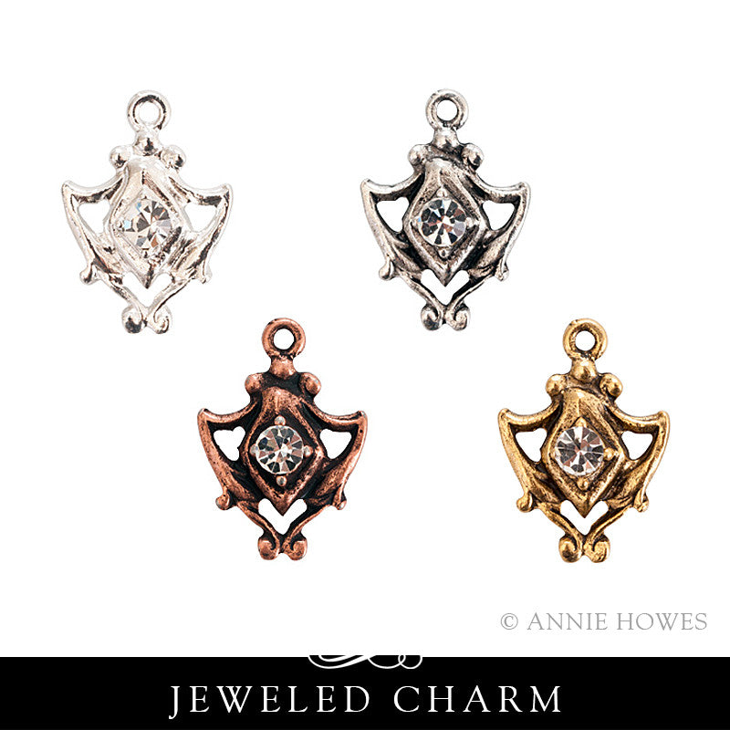 Jeweled Medallion Charm. Nunn Design