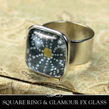 Square Ring with Wide Adjustable Band. 16mm - Nunn Design