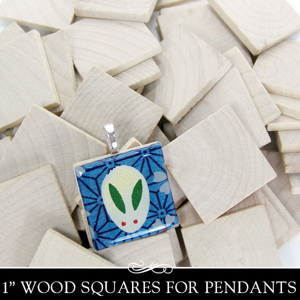 Wooden Square Cut Out (flat) - 1 Inch x 1/8 Inch