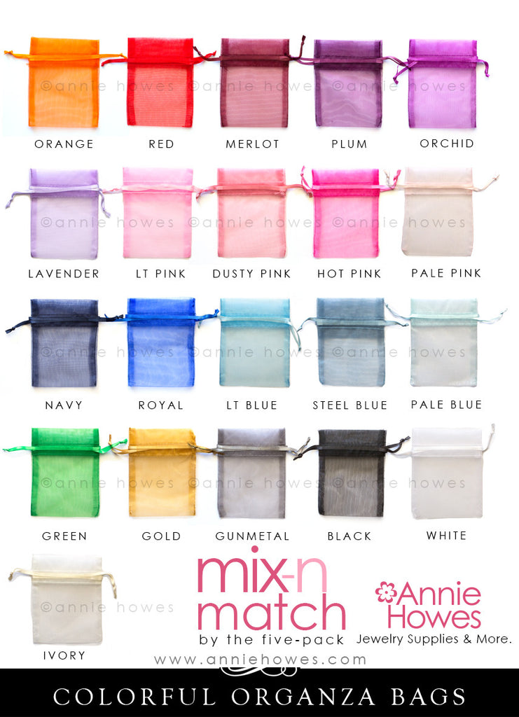 Organza Bags in Beautiful Colors