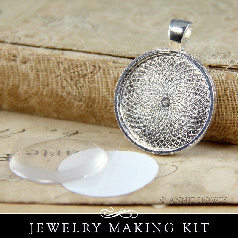 Photo Jewelry Kit with Glamour Dots Clear Epoxy Stickers