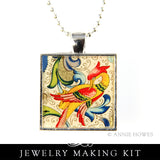 Luxe Resin Photo Jewelry Pendant Necklace Kit II