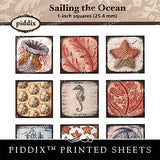 Piddix  - 1 Inch Collage Sheets - Sailing the Ocean - Square
