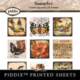 Piddix  - 1 Inch Collage Sheets - Sampler - Square