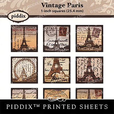 Piddix  - 1 Inch Collage Sheets - Vintage Paris - Square
