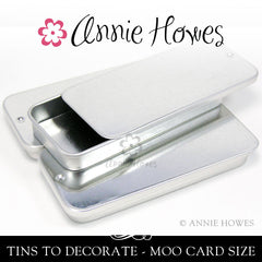 Metal Tins Large Rectangle Fit Moo Cards