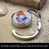 Purse Hanger with or without Glass Insert. Easy to make.